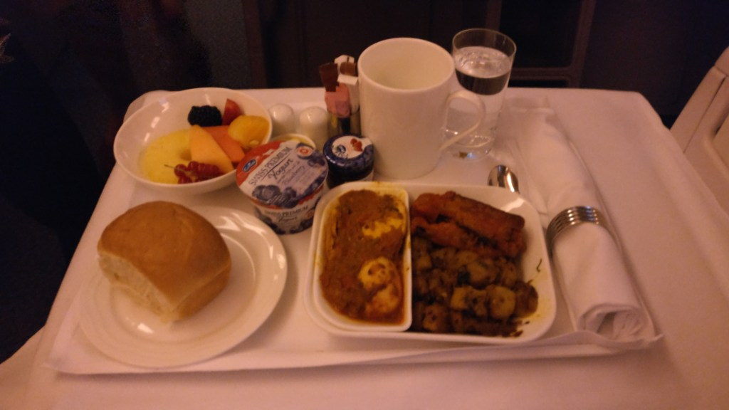 Business Class Meal