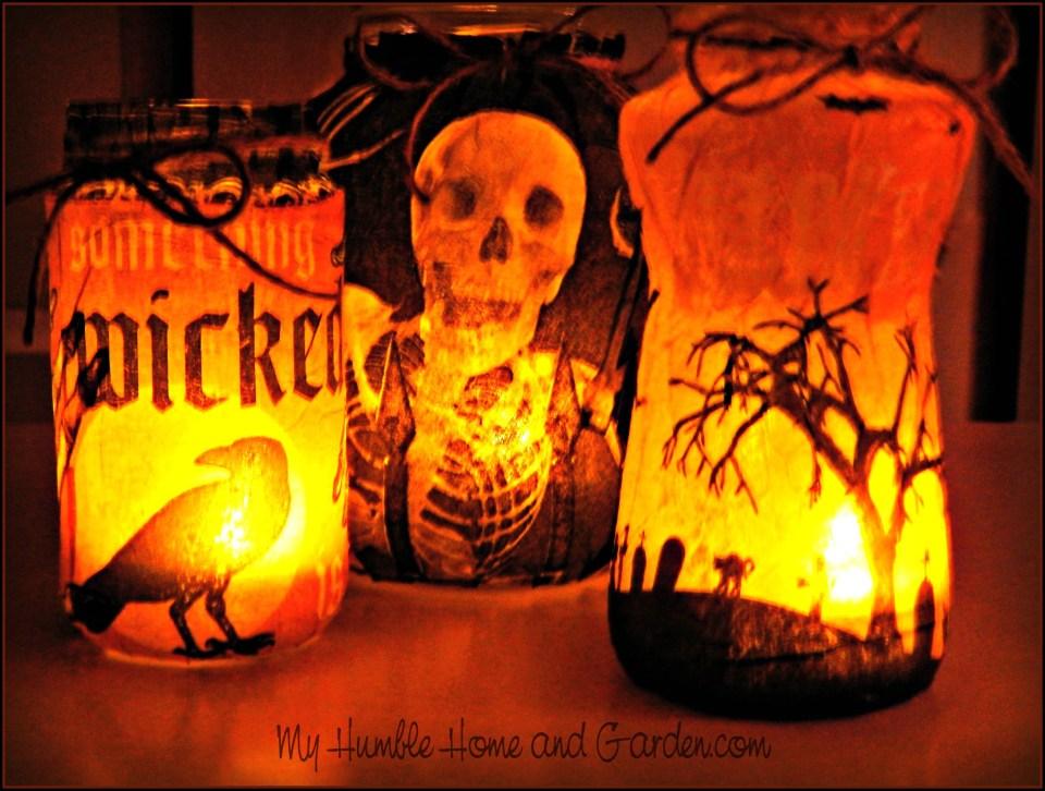 DIY Halloween Luminaries