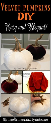 Velvet Pumpkins DIY - Easy and Elegant! on MyHumbleHomeandGarden.com