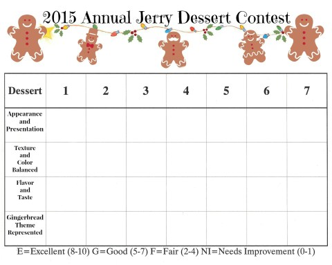 Annual Christmas Dessert Contest and Christmas Game on MyHumbleHomeandGarden.com