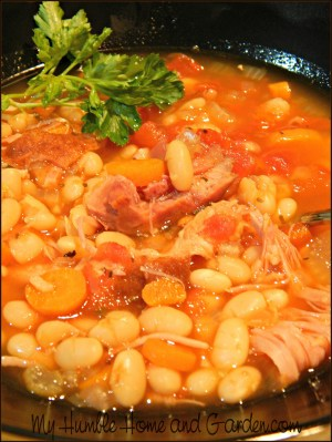 Delicious Ham and Bean Soup on MyHumbleHomeandGarden.com