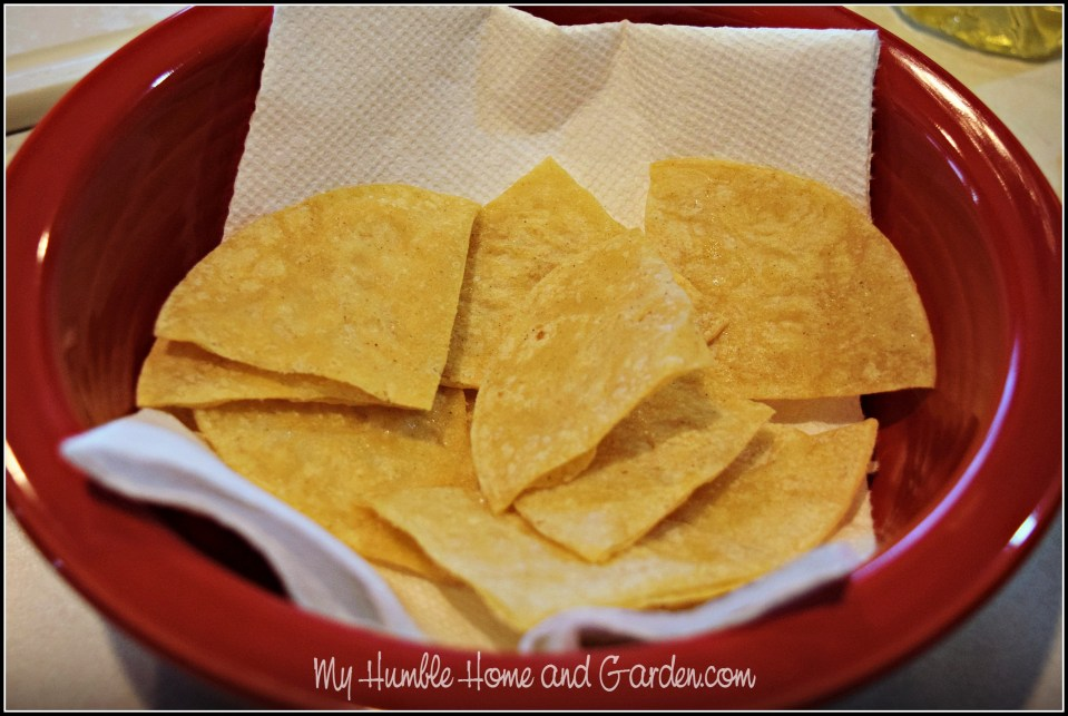 Homemade Tortilla Chips on MyHumbleHomeandGarden.com