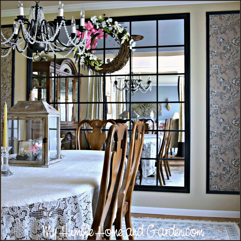 Dining Room Mirror DIY