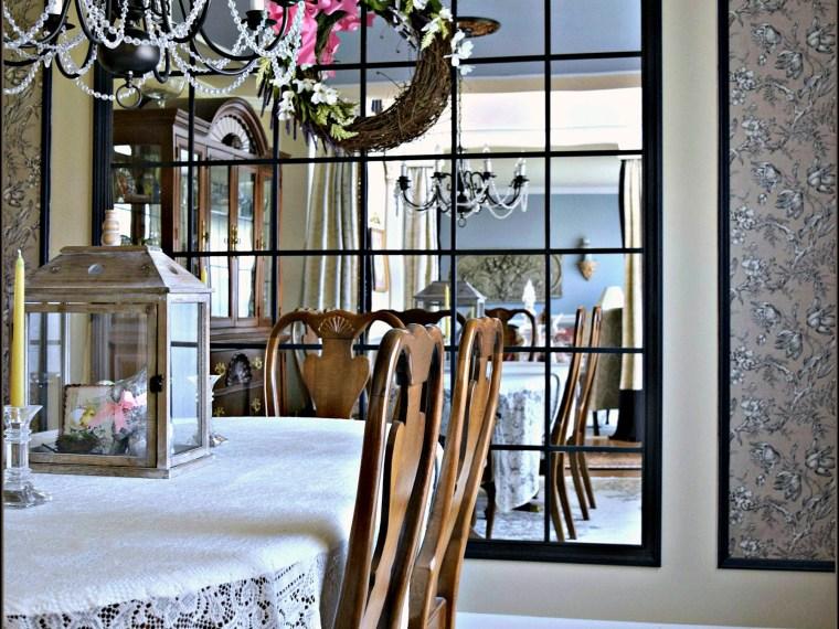 Dining Room Mirror DIY