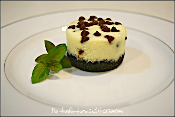 Mini Chocolate Chip Cheesecakes on MyHumbleHomeandGarden.com