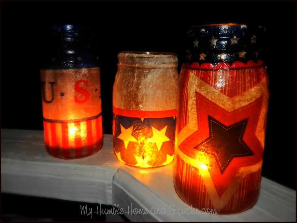 4th of July Luminaries on MyHumbleHomeandGarden.com