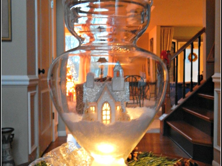 Create An Easy Apothecary Jar Snow Scene Complete With Lights