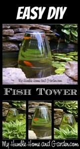 DIY Fish Tower on MyHumbleHomeandGarden.com