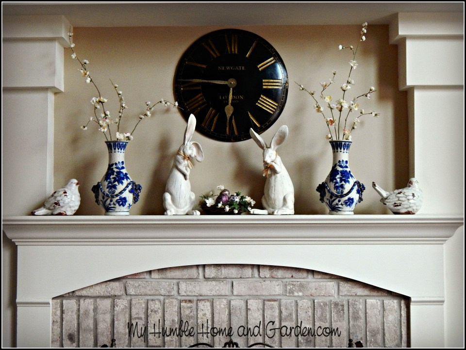 Spring Mantel Ideas - Simple and Understated.