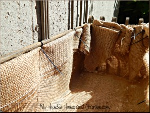 The Garden - Burlap Planter Liner on MyHumbleHomeandGarden.com