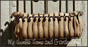 The Garden - Burlap Planter Liner on MyHumbleHomeandGarden.com