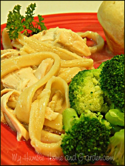 Homemade Chicken and Noodles on MyHumbleHomeandGarden.com