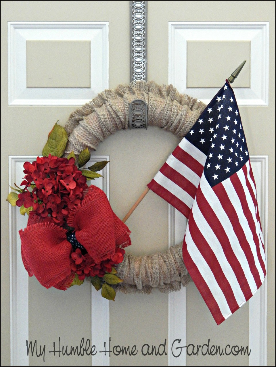 Burlap 4th of July Wreath – DIY