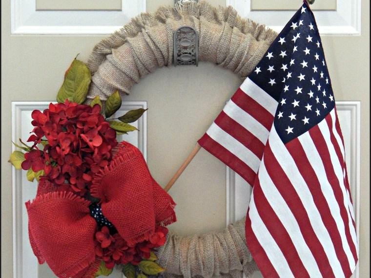 Burlap 4th of July Wreath – DIY