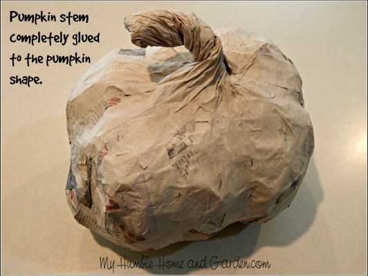 Papier-mâché - Pumpkins How To Make on MyHumbleHomeandGarden.com