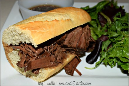 Crock-pot French Dip Sandwiches on MyHumbleHomeandGarden.com