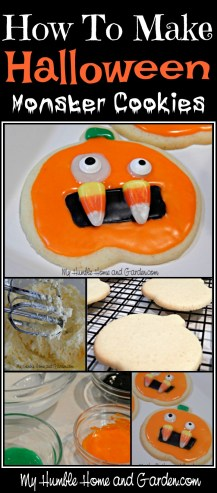 How To Make Halloween Monster Cookies on MyHumbleHomeandGarden.com