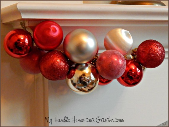 How To Easily Make Beautiful Christmas Ornament Garland on MyHumbleHomeandGarden.com