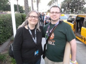 This was a big surprise and my biggest honor of all SWCA 2015! She didn't reveal anything about the Visceral Games Star Wars project, but I did at least ask! Todd Stashwick took the photo, and even though I knew it was Todd, it didn't hit me until I got back to the hotel. He's helping her with the game and is an actor...missed photo op there.