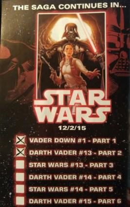 Vader Down Checklist 2
