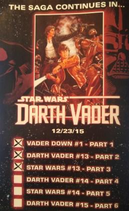 Vader Down Checklist 3