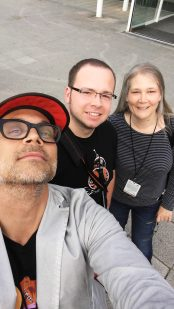 Amy Hennig, Todd Stashwick, and Me