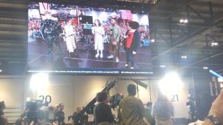 Kiri Hart, John Boyega, Kathleen Kennedy on Star Wars Show stage