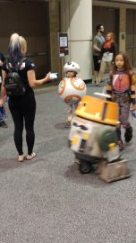 I was trying to get a picture of Chopper but then I realized there was a little BB-8 cosplayer so I kept the shot.
