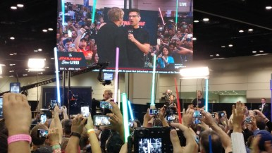 Mark Hamill found himself on the Star Wars Show Stage!