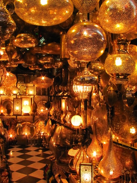 stunning lighting shop in the souk