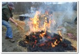 Paljenje slamom tradicionalne slavonske svinje