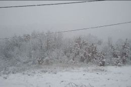 Snjeg na selu