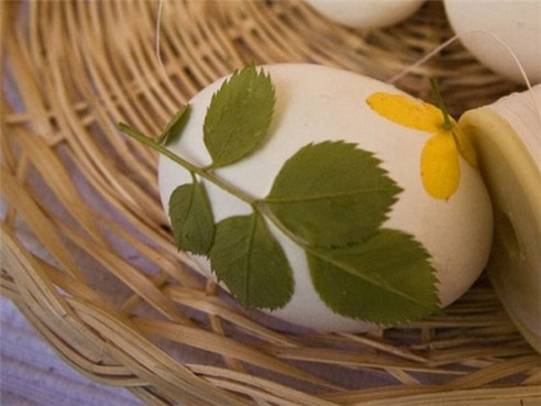 Bojanje jaja s korom luka
