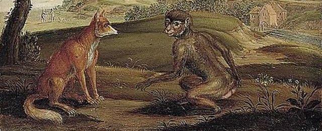 Lisica i majmun stara priča o lažima i istini