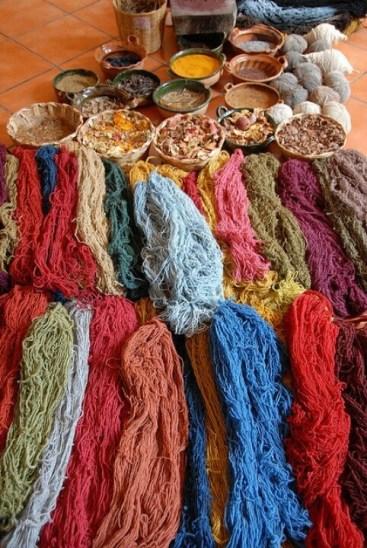 Prirodno bojanje vune i tkanina