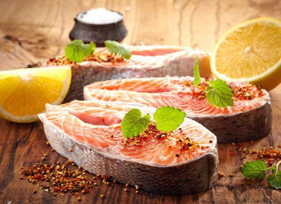 Красная рыба с имбирем