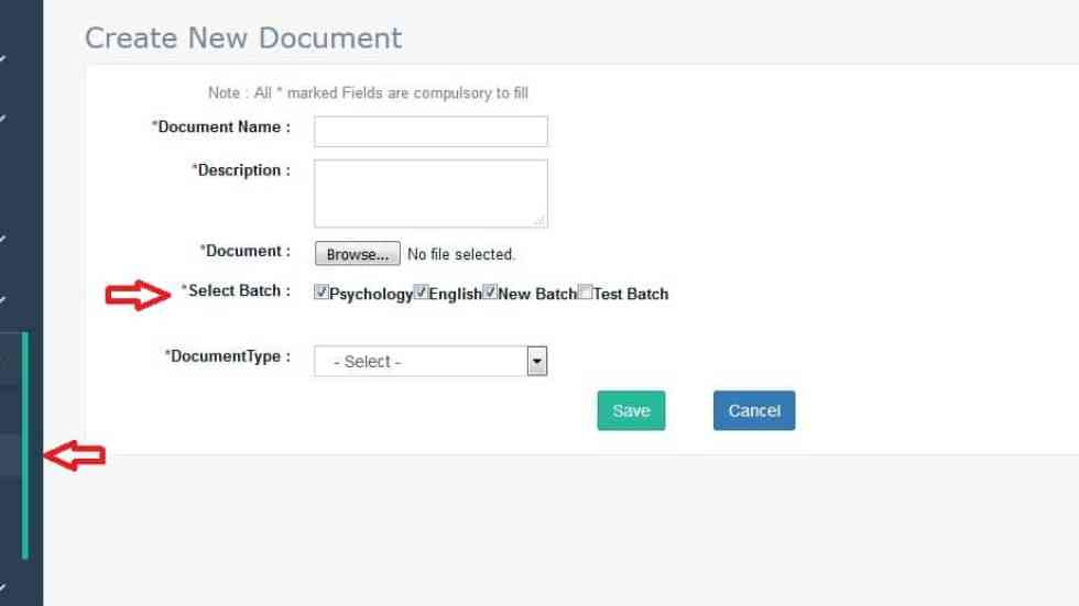 Knowledge Management document Upload and share Step