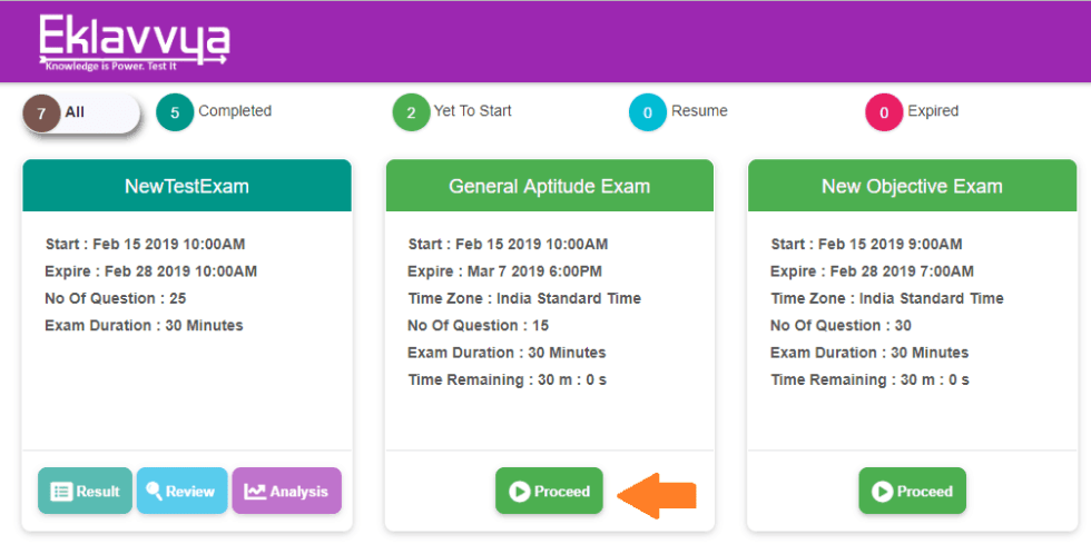 Online Exam Process