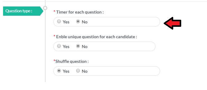 Per question timer