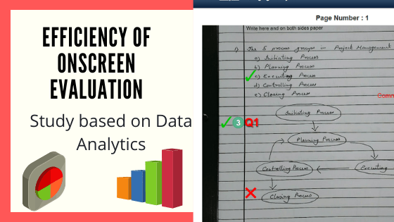 Efficiency of onscreen evaluation techniques data analysis