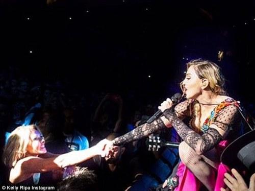 Kelly Ripa Madonna Rebe Heart Tour