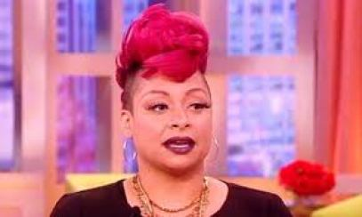 raven the view red hair mohawk