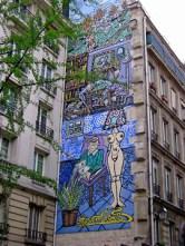 Street mural, Marais