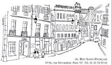 Au Bon Saint Pourcain business card