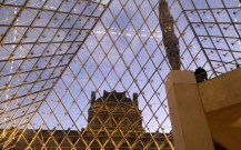 Louvre pyramid from inside