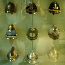 Soldiers' hats and helmets