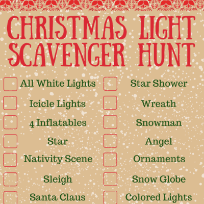 Free Printable – Christmas Scavenger Hunt