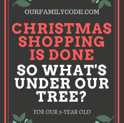 What's Under the Tree for Our 5-Year Old?
