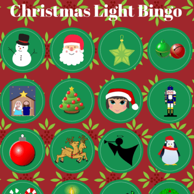 Free Printable – Christmas Light Bingo