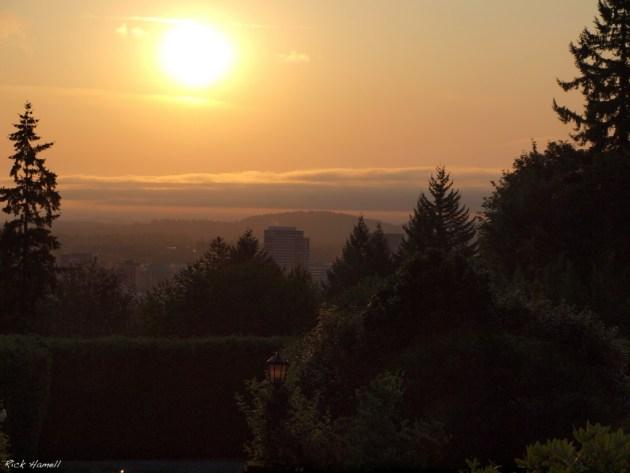 Sunrise over Mt. Hood